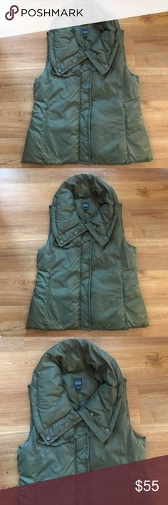 Eileen Fisher olive green down vest size s Very nice Eileen Fisher vest in good preowned con size s Eileen Fisher Jackets & Coats Vests