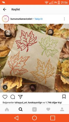 This Pin was discovered by Ayf Cross Stitch Cushion, Small Cross Stitch, Cross Stitch Flowers, Hand Embroidery Stitches, Hand Embroidery Designs, Cross Stitch Embroidery, Modern Cross Stitch Patterns, Cross Stitch Designs, Floral Throw Pillows