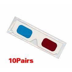 ebc123be2c 10 Pairs of Red Cyan Cardboard 3D Glasses Sleeve