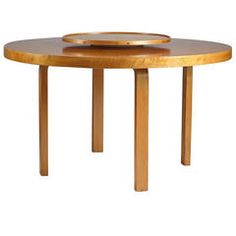 Dining Table with Carousel Designed by Alvar Aalto for Artek, Finland, 1930s