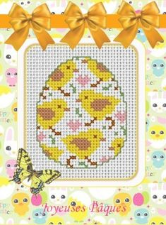 Grille n°100 Pour Pâques - Point De Croix Scrap Crochet Photos ... novalee02
