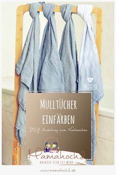 DIY Anleitung Mulltücher einfärben