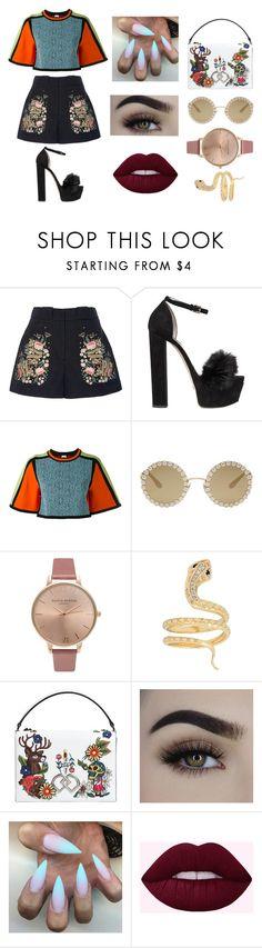 """""""22"""" by clarazachary on Polyvore featuring moda, Vilshenko, Elie Saab, M Missoni, Dolce&Gabbana, Olivia Burton, Iconery Basics e Dsquared2"""