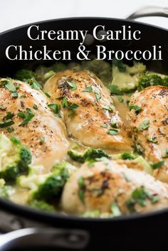 Creamy Garlic Chicken with Broccoli with Creamy Garlic Sauce. Easy creamy garlic chicken with broccoli. Recipe for skillet creamy garlic sauce, chicken breast, Creamy Garlic Sauce, Creamy Garlic Chicken, Broccoli Chicken, Broccoli Recipes, Chicken Breast Recipe With Cream Of Chicken Soup, Keto Chicken, Chicken Recipes On Stove, Recipe With Broccoli, Baked Chicken Breastrecipes