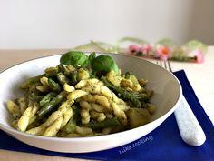 Trofie+pesto+patate+e+fagiolini+-+piatto+ricco
