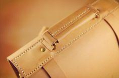Minimalist Handmade Tanned Leather Backpack 03