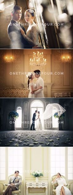 Korean Studio Pre-Wedding Photography: The Face Studio - European Romance, Vintage, Elegant