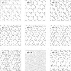 幾何学模様大図鑑 : 幾何学模様のブログ みずすましの図工ノート