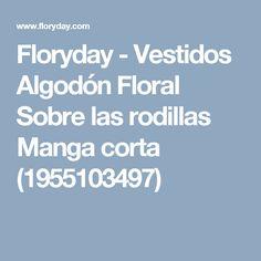 Floryday - Vestidos Algodón Floral Sobre las rodillas Manga corta (1955103497)