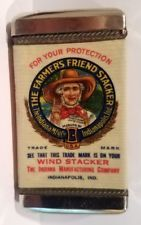 FARMER'S FRIEND WIND STACKER Celluloid Wrapped Match Safe