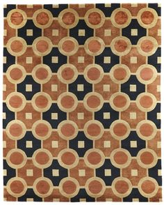 Take a look at this rug from Rugsonline: De jour Copper