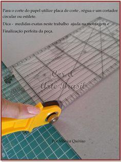 Cor & Arte Brasil: Cartonagem personalizada - Projeto 1 - Caixa com t...
