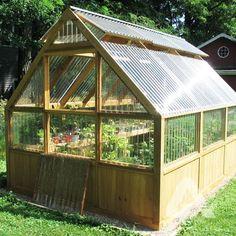 DIY Greenhouse Plans and Greenhouse Kits: Lexan Polycarbonate, Cedar Wood Framed. DIY Greenhouse P