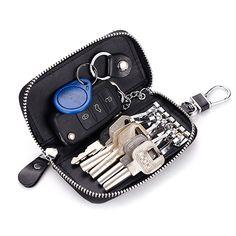 New style split leather women's key holder Top grade key case durable car key bag business men's key wallet Key Holder Wallet, Car Key Holder, Key Wallet, Key Pouch, Card Wallet, Card Holder, Wallet Keychain, Zipper Pouch, Leather Key Holder