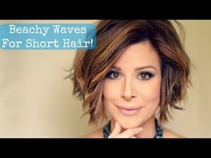 Beachy Waves for Short Hair! - YouTube