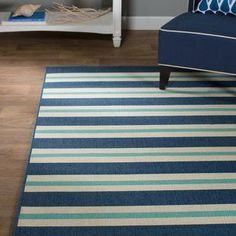 Found it at Joss & Main - Bellamy Blue & Ivory Indoor/Outdoor Area Rug Teal Area Rug, Light Blue Area Rug, Beige Area Rugs, Patio Furniture For Sale, Furniture Decor, Coastal Area Rugs, Patio Seating, Nautical Fashion, Nautical Style