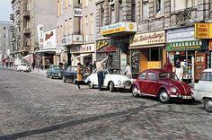 """Stuttgarter Platz, Charlottenburg"" (Charlottenburg is an affluent locality of Berlin) West Berlin, 1963 Kino Berlin, Berlin Zehlendorf, Berlin Photos, West Berlin, Berlin Wall, East Germany, Berlin Germany, Volkswagen, Berlin Hauptstadt"