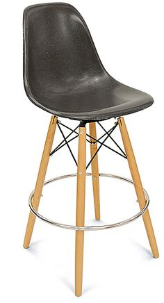 Eames fiberglass barstool w/swivel base for office, from modernica