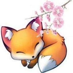 Pin by анастасия корецкая on рисунок животных in 2019 Fox Pictures, Cute Kawaii Drawings, Cute Fox Drawing, Adorable Drawings, Dibujos Cute, Fox Art, Anime Animals, Cute Baby Animals, Cute Kawaii Animals