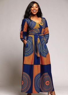 African long gown,African print dress,African clothing for women,African wear for women,African outf African Dresses For Women, African Attire, African Wear, African Fashion Dresses, African Style, Fashion Outfits, Fashion Ideas, Fashion Styles, Nigerian Fashion