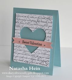 heart cut window card