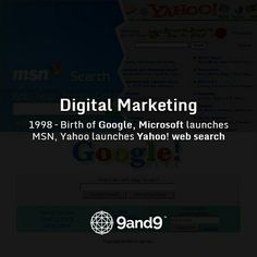 1998 – Birth of #Google, Microsoft launches #MSN, Yahoo launches #Yahoo! web search #HistoryofDigitalMarketing #Searchengine