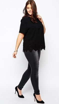 http://www.asos.com/New-Look-Inspire/New-Look-Inspire-Laser-Cut-Hem-Tee/Prod/pgeproduct.aspx?iid=4854070&cid=9577&sh=0&pge=0&pgesize=36&sort=1&clr=Black&totalstyles=1741&gridsize=4 | See more about Women's Clothes, Clothes and Html.