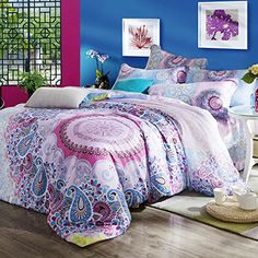 SAYM Home Bedding Sets Modern Fashion 3D Effect Digital Print Bohemian Bedding Tencel Set For Lovely Princess Teen Girls, Lady, Duvet Cover & Flat sheet & Pillow Case,4 Pieces,King Size SAYM http://www.amazon.com/dp/B00Z0IAX5O/ref=cm_sw_r_pi_dp_RiE4wb0Z6RNWQ