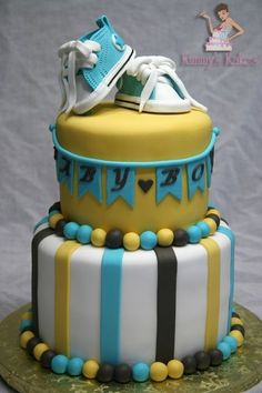 Sporty Baby Shower Cake