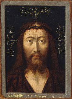 Petrus Christus (1444-1475/76), Head of Christ, ca. 1445, Oil on parchment, laid down on wood, 14.9 x 10.8 cm