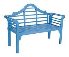 Banco de madera de acacia Biblos - azul
