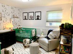 Puppy Nursery Theme, Nursery Twins, Nursery Themes, Crib Mattress, Crib Sheets, Baby Bedroom, Home Bedroom, Twin Nursery Gender Neutral, Project Nursery