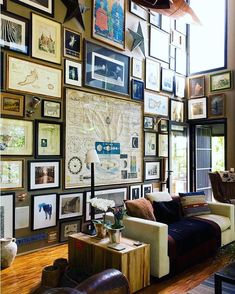 The top pieces must be a sonofabitch to hang. But well worth it. That antique map!!!