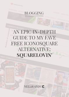 Nellie and Co.: An Epic Guide To My Favourite Free Iconosquare Alternative: Squarelovin' Make Money From Home, How To Make Money, Blog Planner, Blogging, Alternative, Statistics, Photoshop, Cards Against Humanity, Marketing