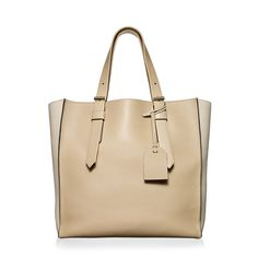 Shop Krush Tote Handbag in Camel/Cream | Reed Krakoff