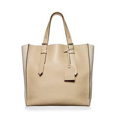 Shop Krush Tote Handbag in Camel/Cream   Reed Krakoff