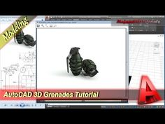 Autocad 3D Modeling Tutorial Grenades Exercise 34 - YouTube