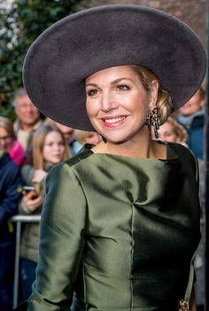 Dutch Queen Maxima waves as she attends the opening of the exhibition Een Koninklijk Paradijs (A Royal Paradise) at The Augustijnen Church...