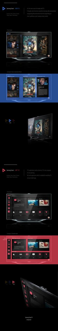 samsung smart TV GUI on Behance