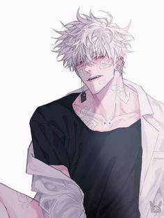 Anime Sexy, Dark Anime Guys, Cool Anime Guys, Handsome Anime Guys, Cute Anime Boy, White Hair Anime Guy, Anime Male, Anime Boy Zeichnung, Fantasy Art Men
