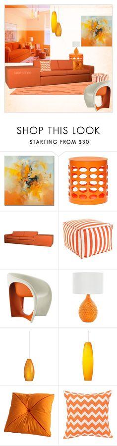 """Orange and White"" by rainie-minnie ❤ liked on Polyvore featuring interior, interiors, interior design, home, home decor, interior decorating, Trademark Fine Art, GitaDini, TrueModern and Dash & Albert"
