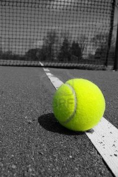 PHOTOGRAPHY ~ ColorSplashGreens •○° ● Tennis ball.