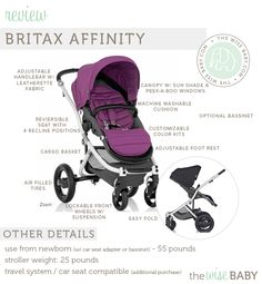 Britax Affinity review - a chic and stylish stroller with all the bells and whistles but built for on the go!