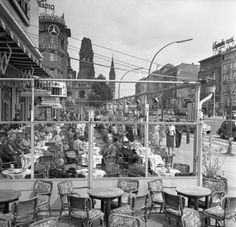 Kurfürstendamm Café Kranzler 50er Jahre