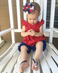 4th of July hair bow  Redwhiteblue hair bow  4th of july   Use promo code PINTEREST for a special discount.