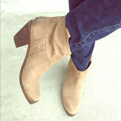 New Western Style Sam Edelman Lisle Booties  Never been worn outside of apartment (see pic of soles). Shopbop description: Western-style Sam Edelman bootie is styled in soft, buttery nubuck. Seam detailing and mild distressing lend a subtle vintage quality, while a bold rose gold-tone zipper details the back and adds a modern touch. Stacked heel and faux leather sole.  Leather: Cowhide. Imported.  MEASUREMENTS Heel: 2.5in / 62mm Shaft: 4in / 10cm Sam Edelman Shoes Ankle Boots & Booties