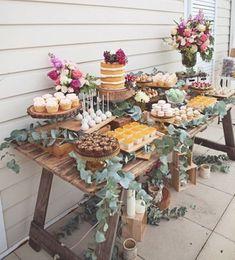 Farmhouse dessert table ❤️