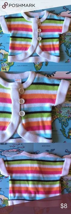 Gymboree Sweater Colorful sweater by Gymboree. No known flaws but has been gently worn. Cat friendly home. No trades, holds or Paypal. 20% off of 2+ bundles. Gymboree Jackets & Coats