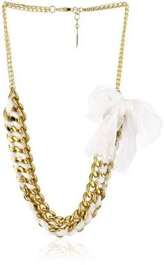 Adia by Adia Kibur Chain with Ribbon Necklace