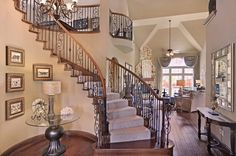 Founded with over 45 years of history in residential building and development, First Texas Homes has been building quality homes in Texas for over a quarter century. Texas Homes, New Homes, Dream Homes, My Dream Home, Entry Stairs, Grand Homes, Home Photo, Staircases, Mirror Mirror